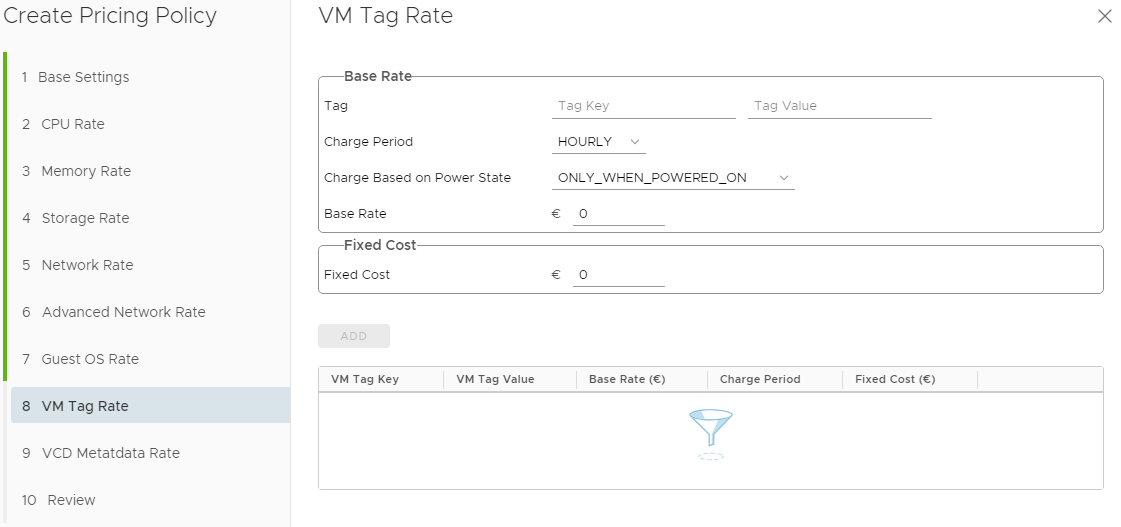 vRealize Operations Tenant App 2.0 for vCloud Director - Pricing Options - VM Tag Rate