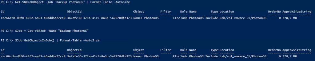 Veeam PowerShell Deep Dive - Get Objects in Job