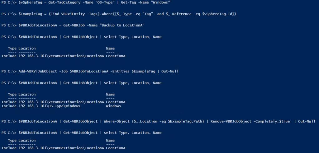 Veeam PowerShell Deep Dive - Tags and Backup Jobs