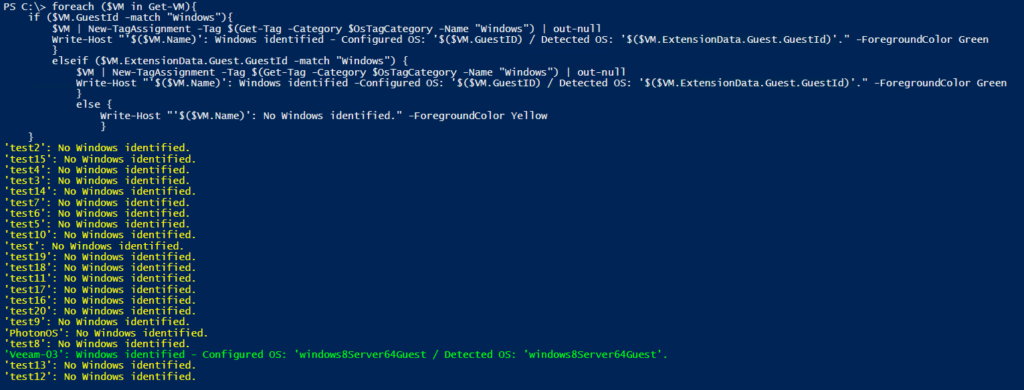 Veeam PowerShell Deep Dive - Working with vSphere Tags Example