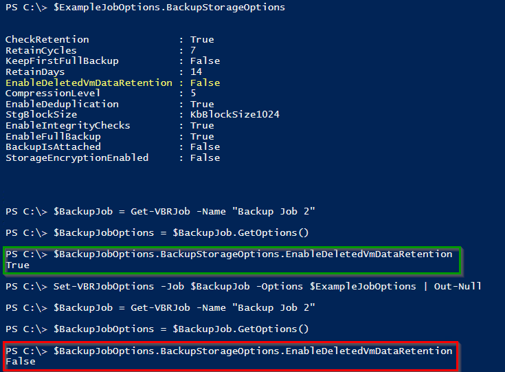 Veeam PowerShell Deep Dive - Modify Job Options from Reference Job