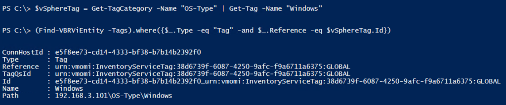 Veeam PowerShell Deep Dive - Match Tags
