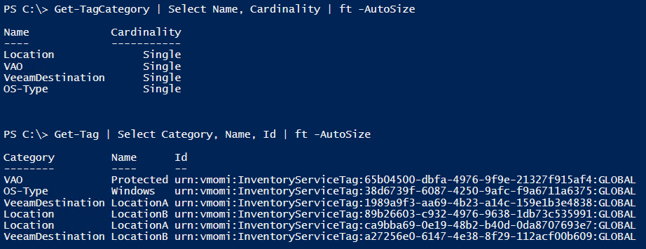 Veeam PowerShell Deep Dive - Get vSphere Tags and Tag Categoies