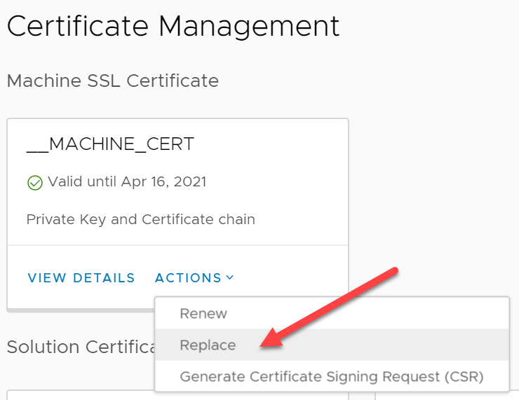 CA signed vCenter Certificate from XCA - vCenter Machine SSL Certificate replacement