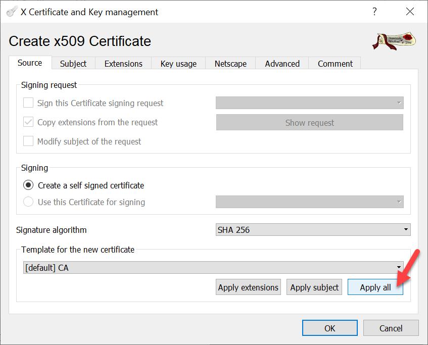 CA signiertes vCenter Zertifikat per XCA - Neue Root-CA