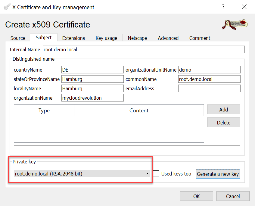 CA signed vCenter Certificate from XCA - Use new Root-CA Key