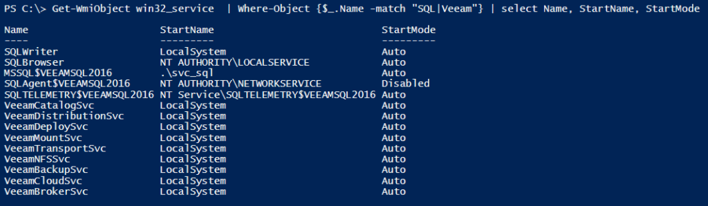 Veeam unattended installation with Ansible - Services