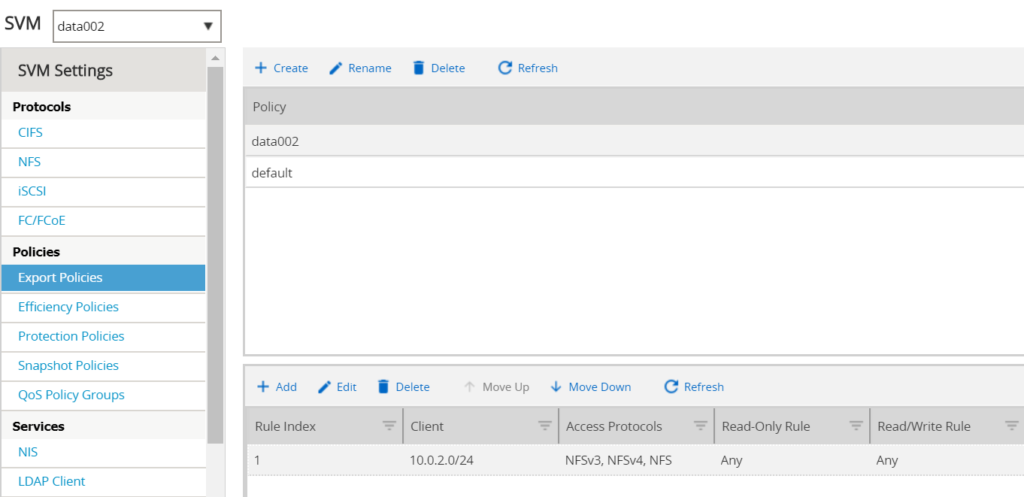 NetApp NFS Export with Ansible - NFS Export