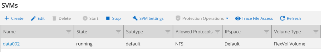 NetApp NFS Export with Ansible - New SVM