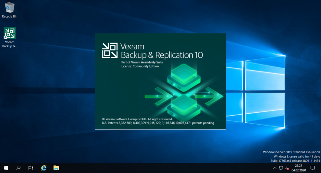 Veeam Availability Suite 10 unattended installation - VBR 10