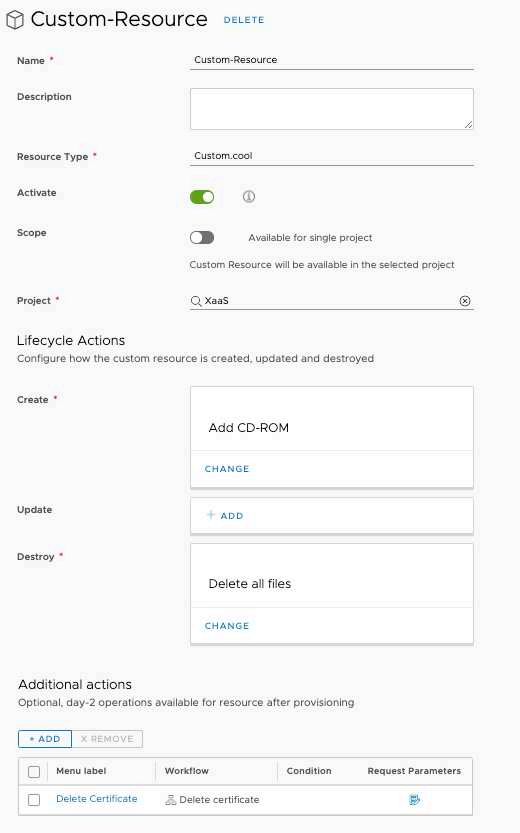 vRealize Automation 8.1 Highlights - Custom Ressources