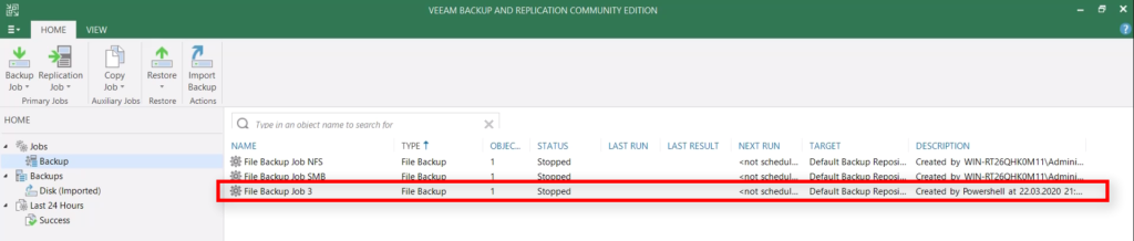 Protect new NetApp NFS Exports with Veeam - New Veeam NAS Backup Job