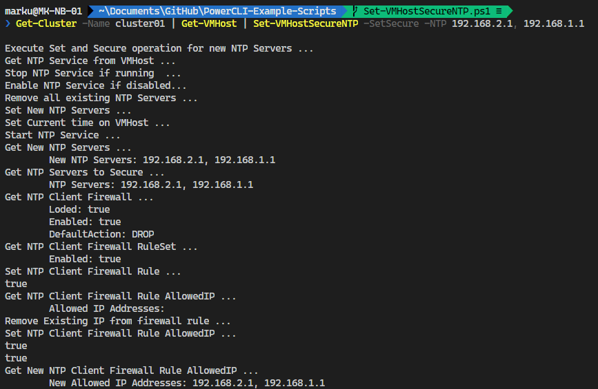 NTP Security Configuration with PowerCLI
